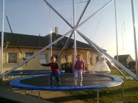 4 pályás óriás  bungee trambulin