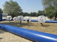 Buborék foci felfújható pályával